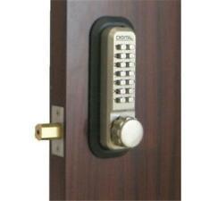 Lockey 2210-Ab-Ko Mechanical Keyless Deadbolt With Key Override - Antique Brass