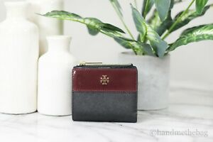 Tory Burch (75384) Emerson Tri-Color Mixed-Materials Mini Wallet Zip Coin Pouch