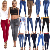 JUSTYOUROUTFIT WOMENS Embroidered Stonewashed/ RIPPED KNEE Skinny Jeans
