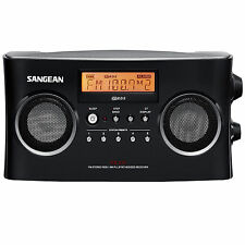 Sangean PR-D5BK AM/FM Portable Radio with Digital Tuning and RDS, Black New