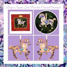 Breyer Sonata Fine Porcelain Carousel Ornament Porcelain Holiday Carousel Horse