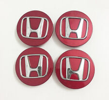 4Pcs For Honda Civic Accord CRV Red 69mm Wheel Emblem Hub Center Cap Badge Logo