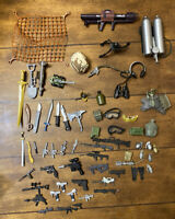 VTG Military Army Men Action Figures Accessories Weapons Guns Lot GI Joe Soldier
