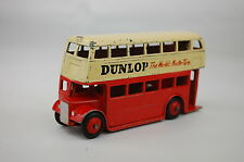 """Dinky 290 Double Decker Bus """"Dunlop"""" Type 3 Leyland Grill 1959-61 4"""" Long V Good"""