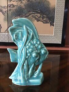 McCoy art pottery turquoise Angel Fish figurine.
