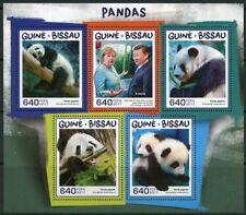 GUINEA BISSAU  2017  PANDAS SHEET MINT NH