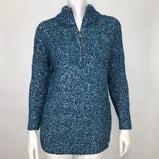 Soft Surroundings Womens Small Petite Sweater 1/4 Zip Chunky Knit Wool Blend SP