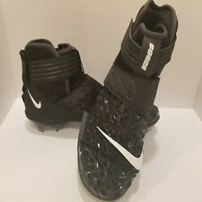 Nike Force Savage Elite 2 Td Men football Cleats Size 9 Blk White Ah3999-001