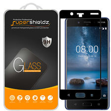 2X Supershieldz for Nokia 8 Full Cover Tempered Glass Screen Protector (Black)