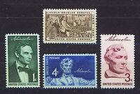 ESTADOS UNIDOS/USA 1958 MNH SC.1113/1116 Lincoln