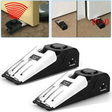 2pcs Door Stop Stopper Floor Door Guard Shiled Wedge with Warning Alarm System
