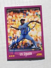 Minnesota Twins LES STRAKER autographed 1988 Score