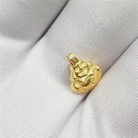 Pure 24K Yellow Gold Pendant 3D Craft Buddha SMALL Pendant