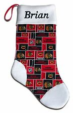 NEW Personalized NHL Chicago Blackhawks Hockey Christmas Stocking Gift