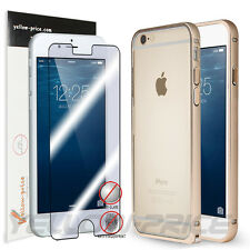 Ultra-thin Aluminum Buckle Open Metal Bumper Case Cover w/ Film For iphone 6 4.7