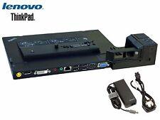 LENOVO 433710U ThinkPad Mini Dock Series 3 (P/N 75Y5734) w/ Lenovo AC Adapter