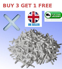 Tile Spacers, Tiling, Grouting, Floor, Wall,Cross ,1.5mm-10MM BUY 3 GET 1 FREE