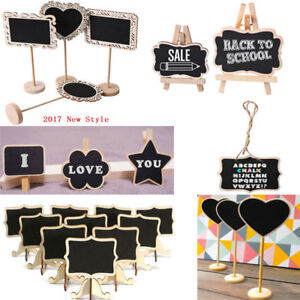 Mini Wooden Chalk Blackboard Wedding Restaurant Signs Chalkboard Writing Notice