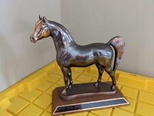 """12"""" vintage Bronze golden sculpture Horse Trophy gladys brown edwards"""