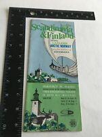 1963 Escorted Tours Guide & Schedule Scandinavia & Finland Lapland Arctic Norway