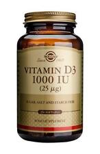 Solgar Vitamin D3 1000 IU Softgels, 250