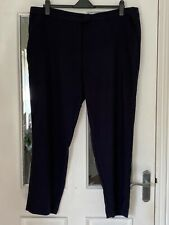 BRAND NEW TU NAVY BLUE TEXTURED STRETCH TROUSERS - SIZE 22!!