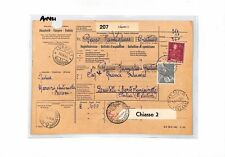 AN421 1954 SWITZERLAND Lugano PARCEL POST RECEIPT to ITALY