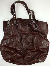 B. Makowsky Brown SOFT Glove Leather Pocket Shopper