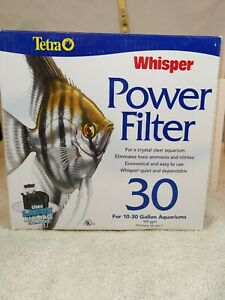 NEW! Tetra Whisper Power Water Fish Aquarium Filter 30 Gallons Bio Bags 145gph