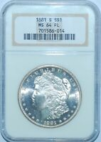 1881 S NGC MS64PL Prooflike Morgan Dollar