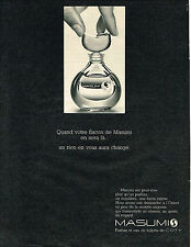 PUBLICITE ADVERTISING 045  1969  COTY  parfum eau de toilette MASUMI