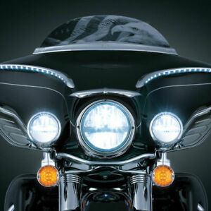 Kuryakyn Front Phase 7 LED Headlamp Headlight Upgrade Harley Bagger Touring 2249