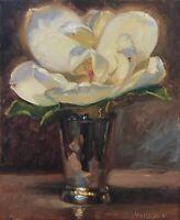 Magnolia in Silver No.2 NOAH VERRIER Still life painting, Signed print
