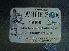 CHICAGO WHITE SOX 1966 SEASON PASS - WHITE SOX PARK