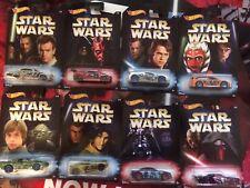 2017 NEW Star Wars Hot Wheels Walmart Exclusive Set of 8 Master & Apprentice NIP