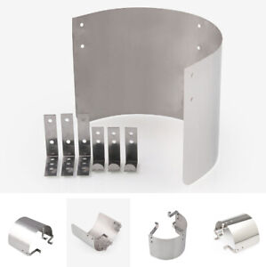 Auto Car Cone Style Air Intake Filter Cover Heat Shield Guard Protector Silver