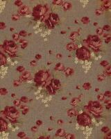 Fabric, Country Roads by Robyn Pandolph for SSI, Red Roses on Brown, by / yard