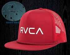 New RVCA Foamy Mens Dark Red Mesh Snapback Trucker Cap Hat