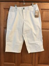 Coldwater Creek Capri Jeans White Zip Fly Natural Waist Womans Size 14 New