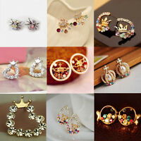 Fashion Women's Crystal Rhinestone Ear Stud Dangle Earrings Charming Jewelry
