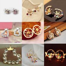 Fashion Women's Crystal Rhinestone Ear Stud Dangle Earrings Charming Jewelry