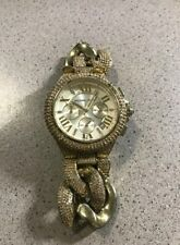 MICHAEL KORS  MK-3248 Camille Chronograph Champagne Dial Gold-tone Glitz Watch