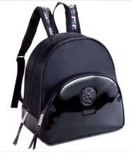 Versace Parfum Black Luxury Backpack with Medusa Head in Dust Bag