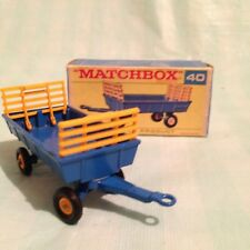 Matchbox Series By Lesney Blue Hay Trailer No 40