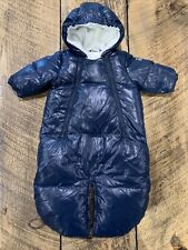 Benetton Baby Baby Bunting Down Snow Suit, Dark Blue, Size 3-6 Months
