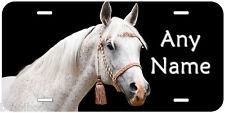 White Arab Horse Personalized Aluminum Novelty Car License Plate P015