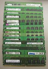 Lot of (10) Mixed Major Brand 1GB DDR-2 DIMM PC4200-PC6400 Non-ECC