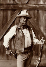 John Wayne Bob Willoughby Photograph Western Celebrity Print Poster 21x30