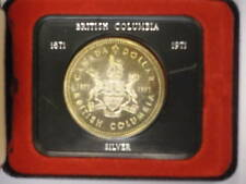 Canada 1971 silver dollar, British Columbia, w/ case