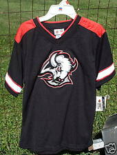 Kids Buffalo SABRES Hockey Jersey Shirt 12-14 M Black Vintage